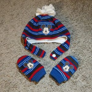 Disney Baby Mickey Mouse Fleece Hat/Mittens Set